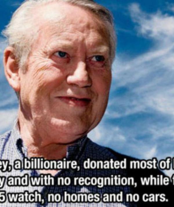 Mục đích của đạo Phật - Vị tỷ phú làm từ thiện