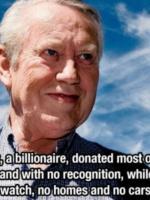Vị tỷ phú làm từ thiện