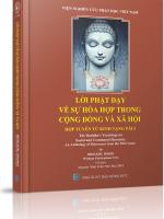Lời Phật dạy về sự hòa hợp trong cộng đồng và xã hội