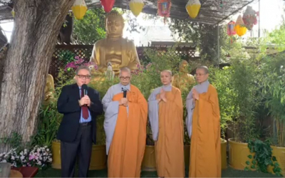Ban Truyền Thông Liên Phật Hội viếng thăm Tu viện Huyền Không